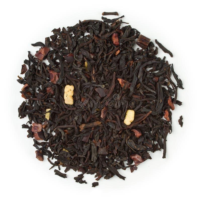 Schokolade des schwarzen Tees stockbild