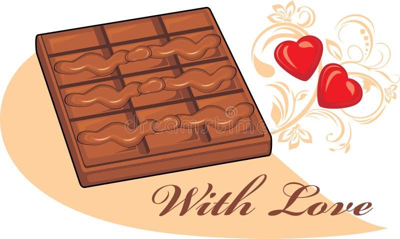 Schokolade für Valentine Day stock abbildung