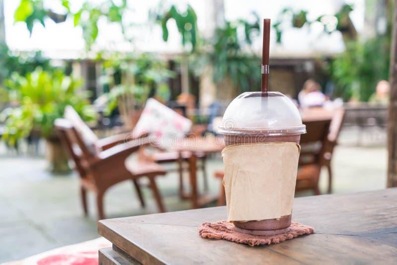 Schokolade frappe im Café lizenzfreies stockbild