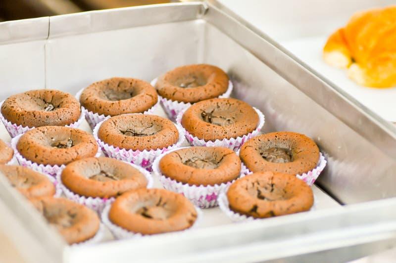 Schokolade Lava Cake stockfotos