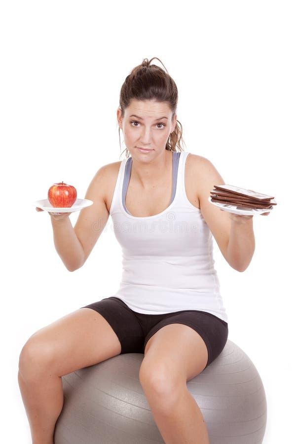 Schokolade oder Frucht stockbilder