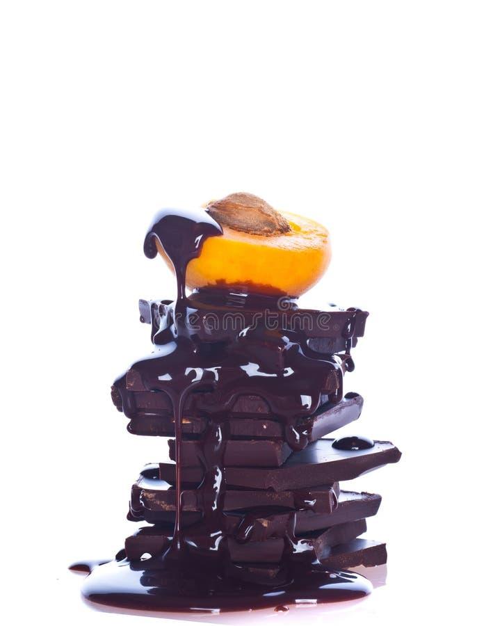 Schokolade und Frucht lizenzfreies stockbild