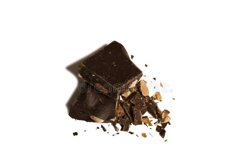 Schokolade und Mandel lizenzfreies stockfoto