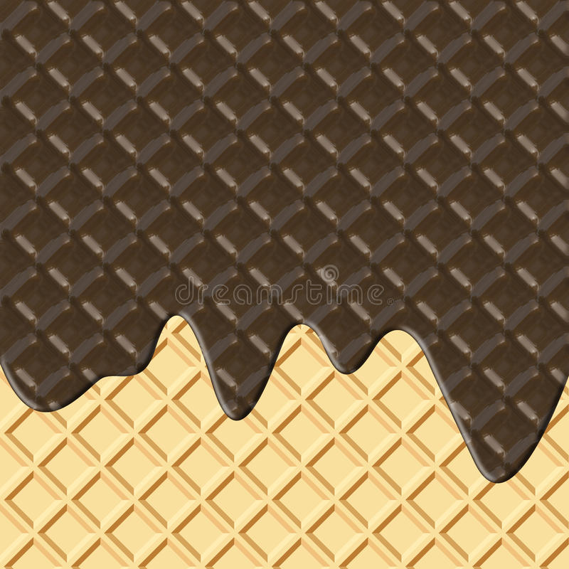 Schokolade und Oblate stock abbildung