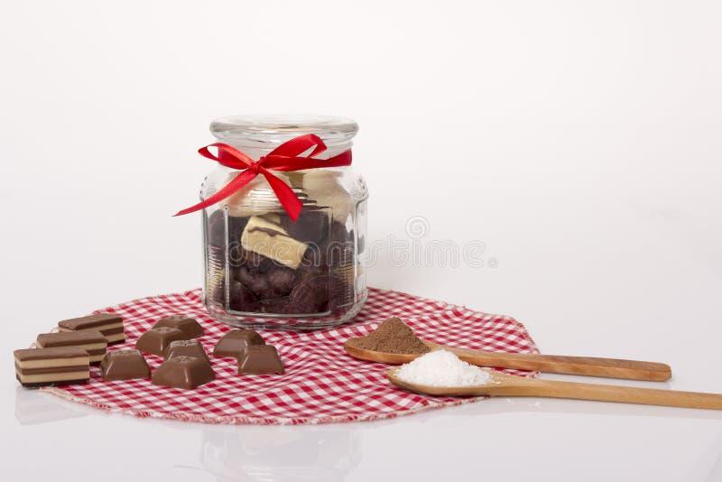 Schokolade und Plätzchen stockfoto