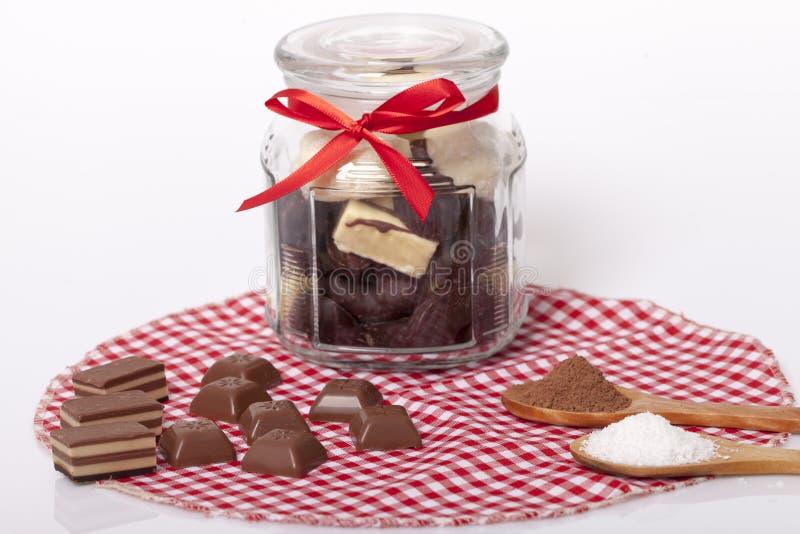 Schokolade und Plätzchen stockfotos