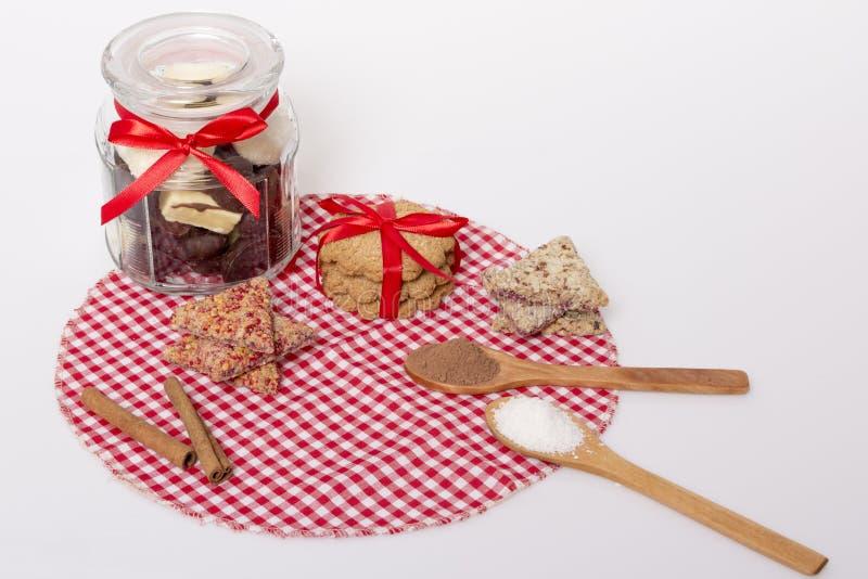 Schokolade und Plätzchen stockfotografie