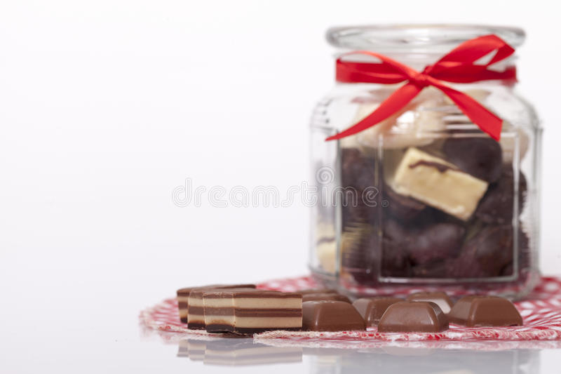 Schokolade und Plätzchen lizenzfreies stockbild