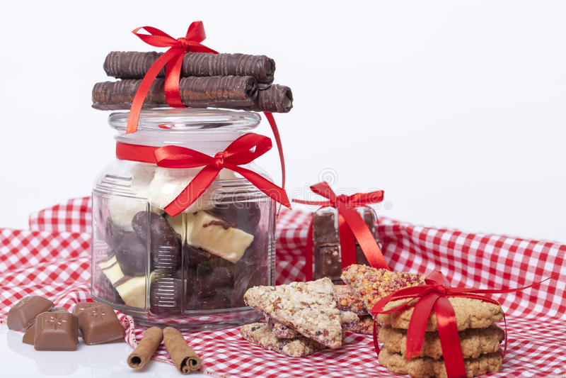 Schokolade und Plätzchen lizenzfreie stockfotografie