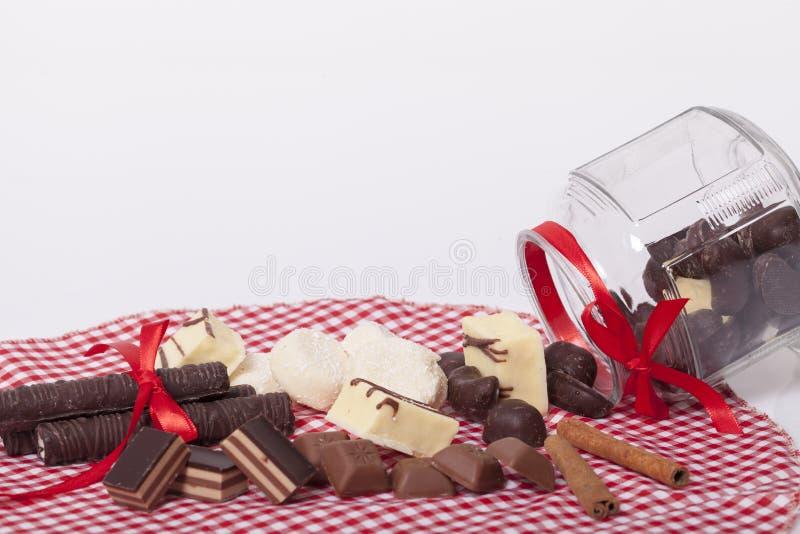 Schokolade und Plätzchen lizenzfreie stockfotos