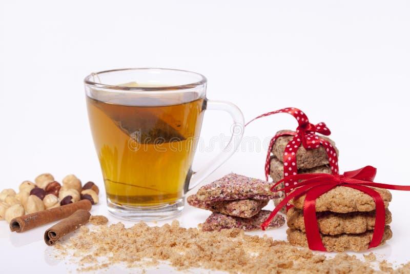 Schokolade und Plätzchen lizenzfreies stockfoto