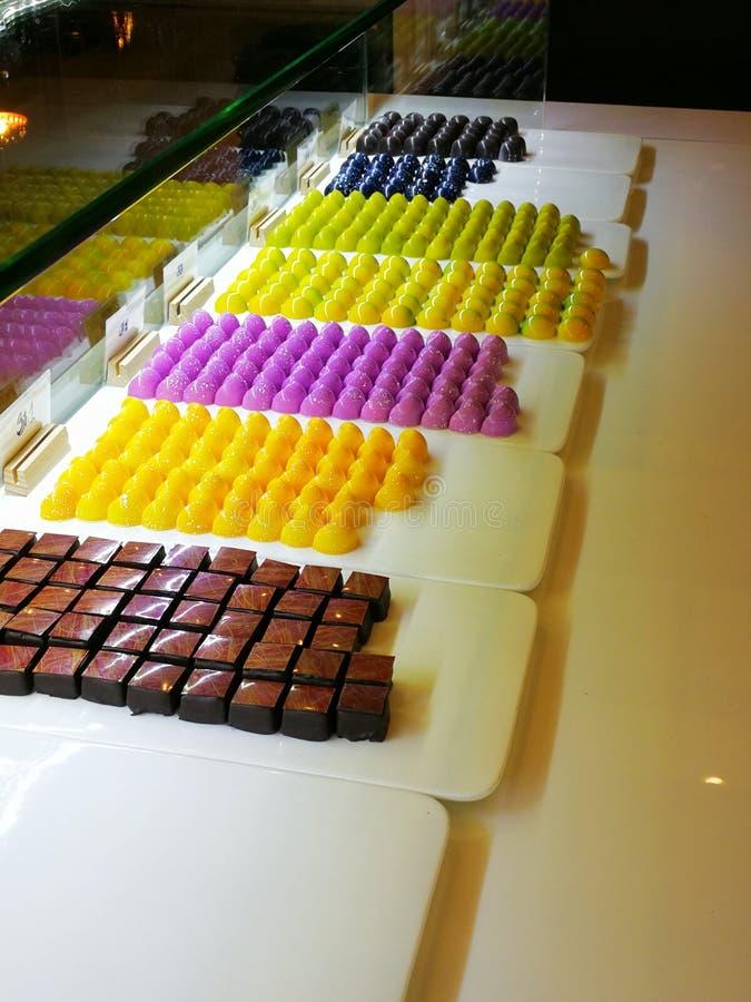 Schokolade und Süßigkeit stockbild