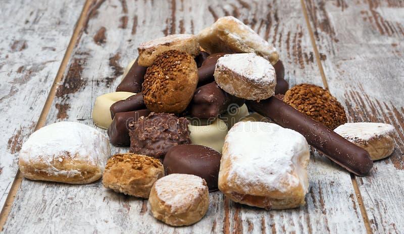 Schokolade und Shortbread lizenzfreie stockbilder