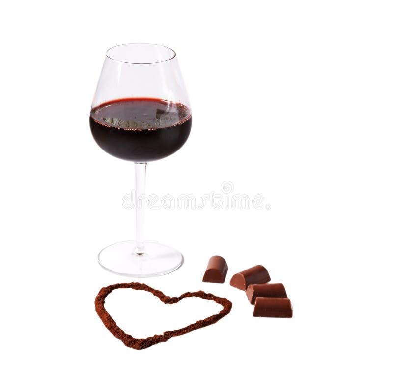 Schokolade und Wein lizenzfreies stockbild