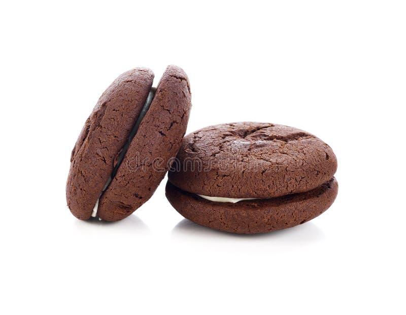 Schokolade Whoopie-Torte lizenzfreie stockfotos