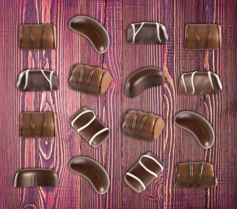 Schokoladen-Bonbon-Muster stockfoto