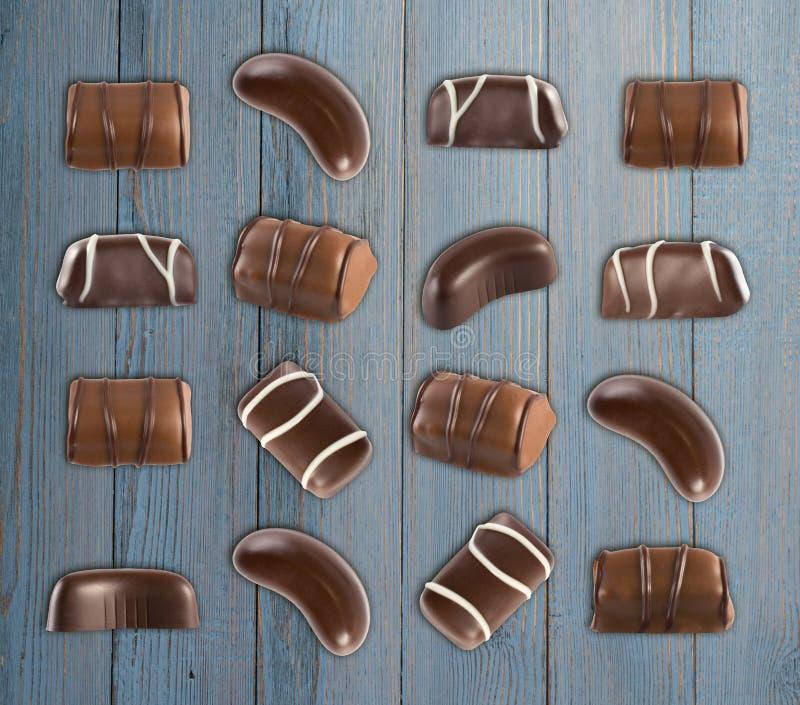 Schokoladen-Bonbon-Muster lizenzfreies stockbild