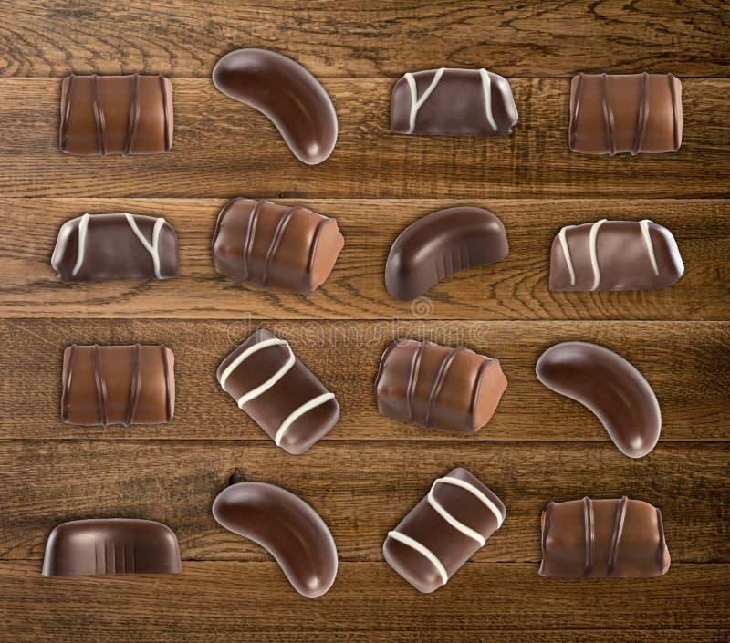 Schokoladen-Bonbon-Muster lizenzfreie stockfotos