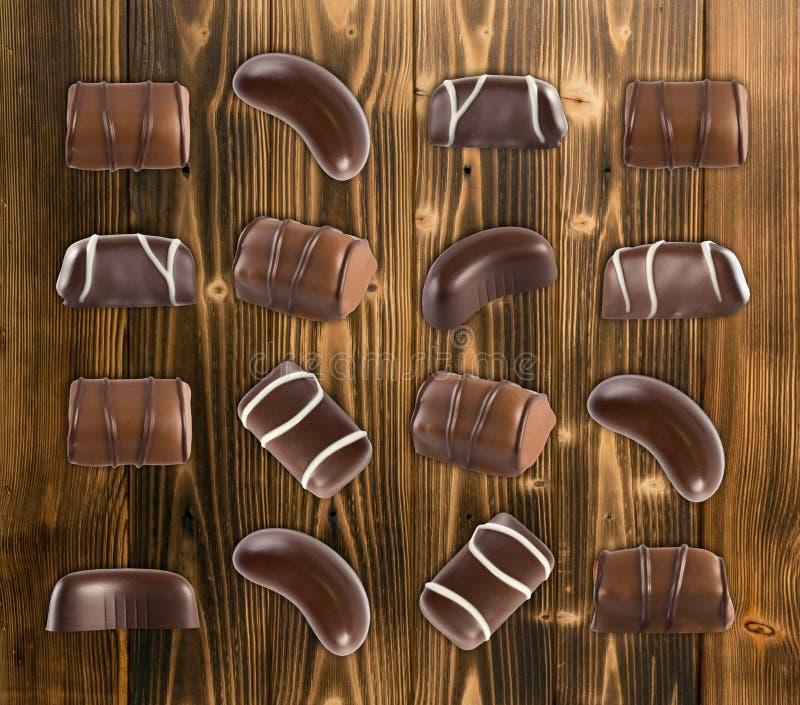Schokoladen-Bonbon-Muster stockbild