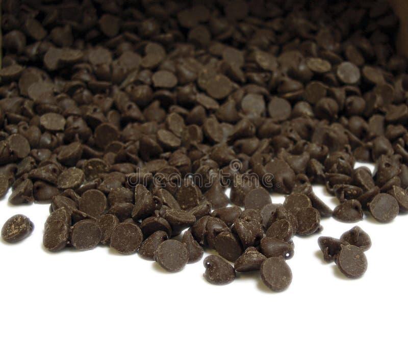 Schokoladen-Chips lizenzfreies stockbild