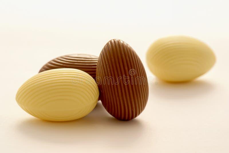 Schokoladen-Eier lizenzfreie stockbilder