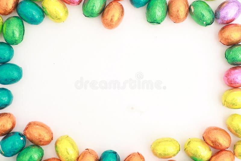Schokoladen-Eier ein traditioneller Ostern-Bonbon. stockfotos