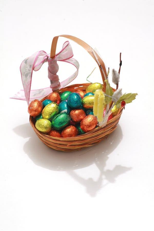 Schokoladen-Eier ein traditioneller Ostern-Bonbon. lizenzfreie stockfotos