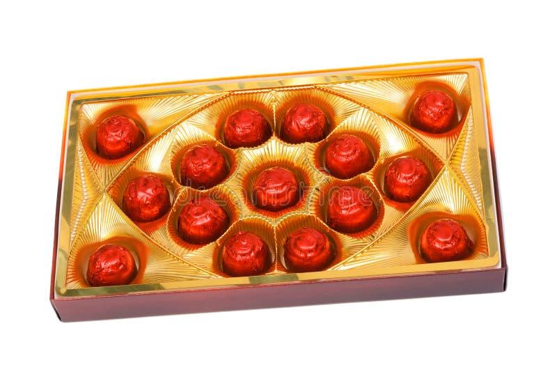 Schokoladen in einem Kasten stockfoto