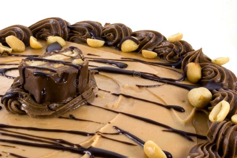 Schokoladen-Erdnussbutter-Kuchen stockbild