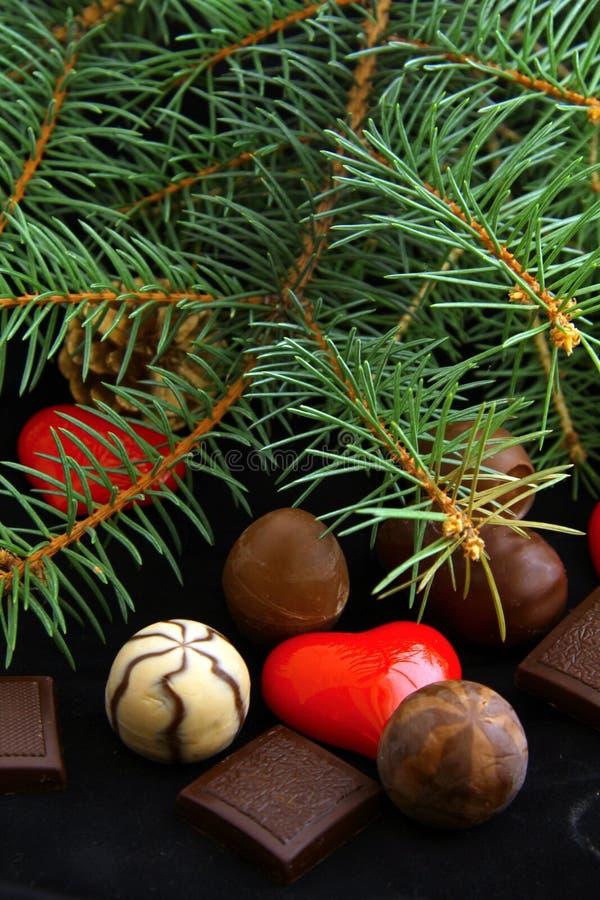 Schokoladen für Weihnachten stockbilder