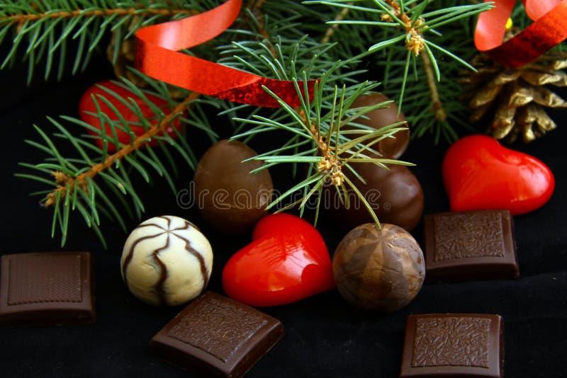 Schokoladen für Weihnachten lizenzfreie stockfotos