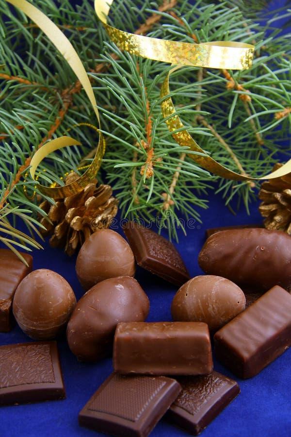 Schokoladen für Weihnachten lizenzfreies stockfoto