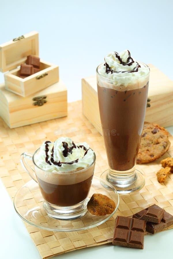 Schokoladen-Getränke lizenzfreies stockbild