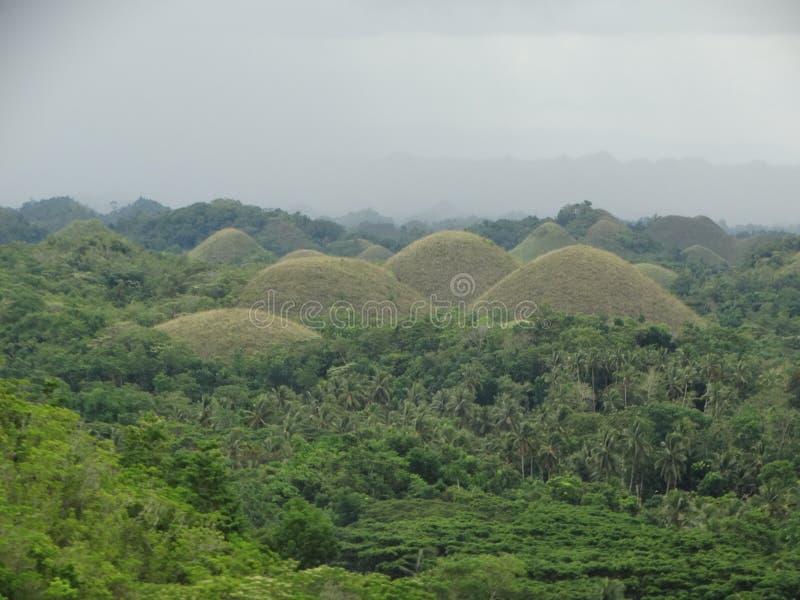Schokoladen-Hügel, Bohol Insel, Philippinen lizenzfreie stockfotografie