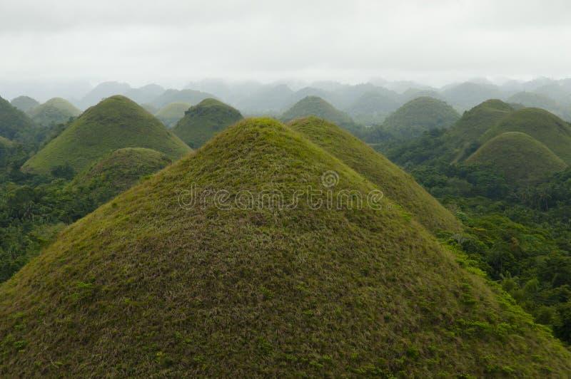 Schokoladen-Hügel - Bohol - Philippinen stockfotografie