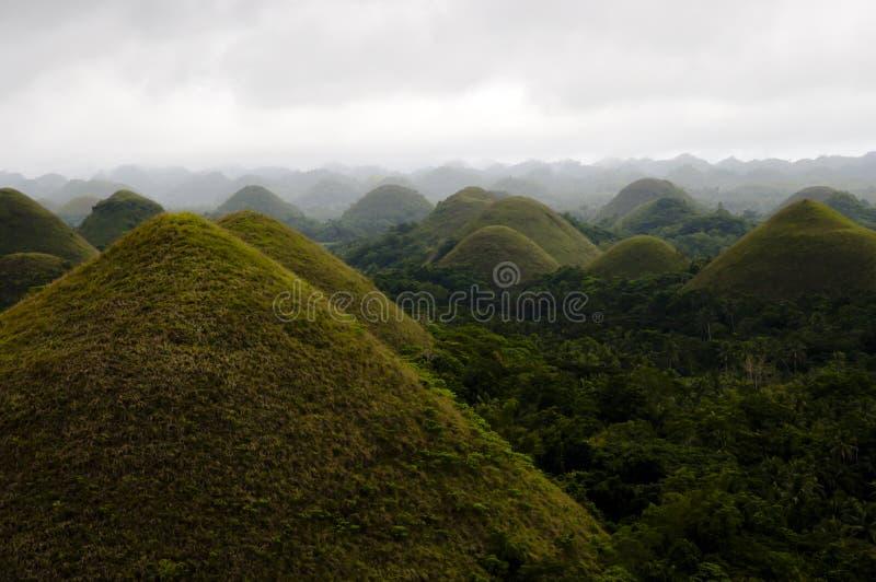 Schokoladen-Hügel - Philippinen stockfotos