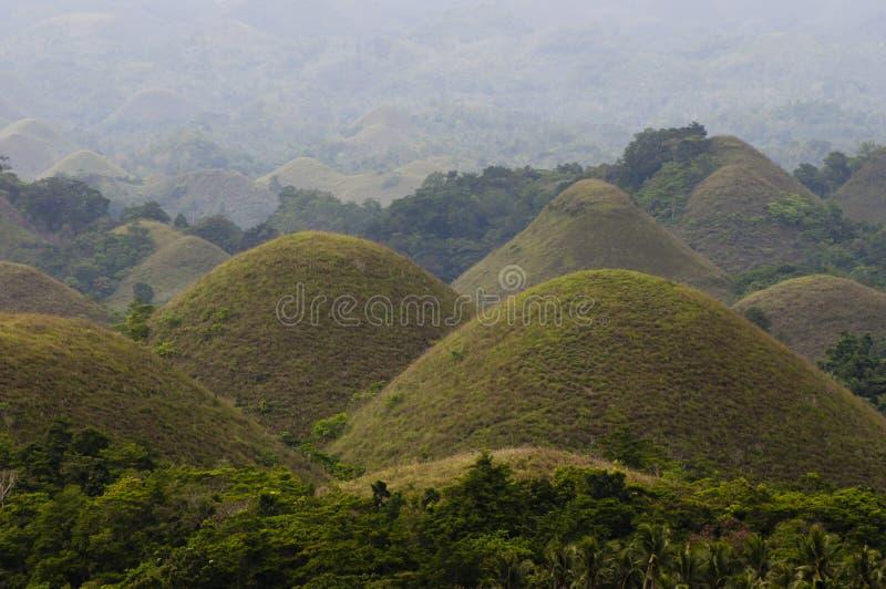 Schokoladen-Hügel - Philippinen lizenzfreie stockfotografie