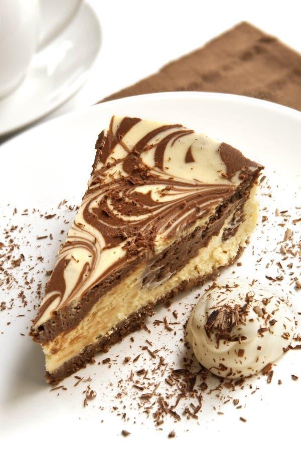 Schokoladen-Käsekuchen lizenzfreie stockbilder
