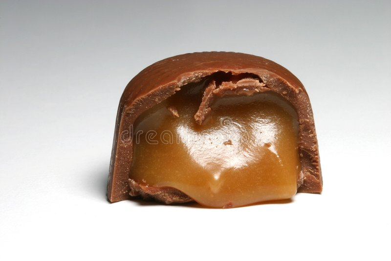 Schokoladen-Karamell lizenzfreie stockfotografie