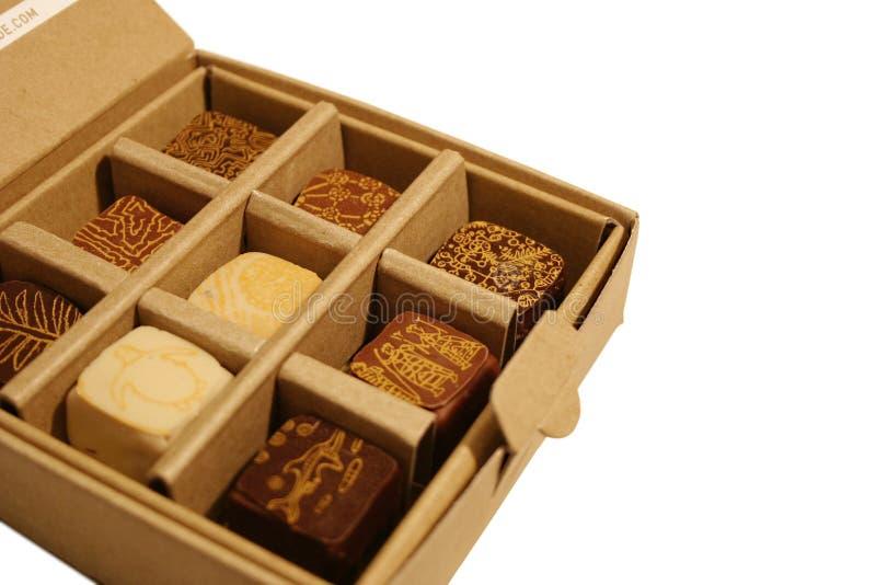 Schokoladen-Kasten lizenzfreie stockbilder