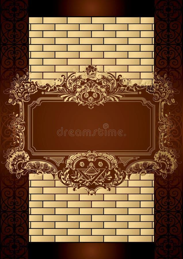 Schokoladen-Kasten-Menü-Abdeckung stock abbildung