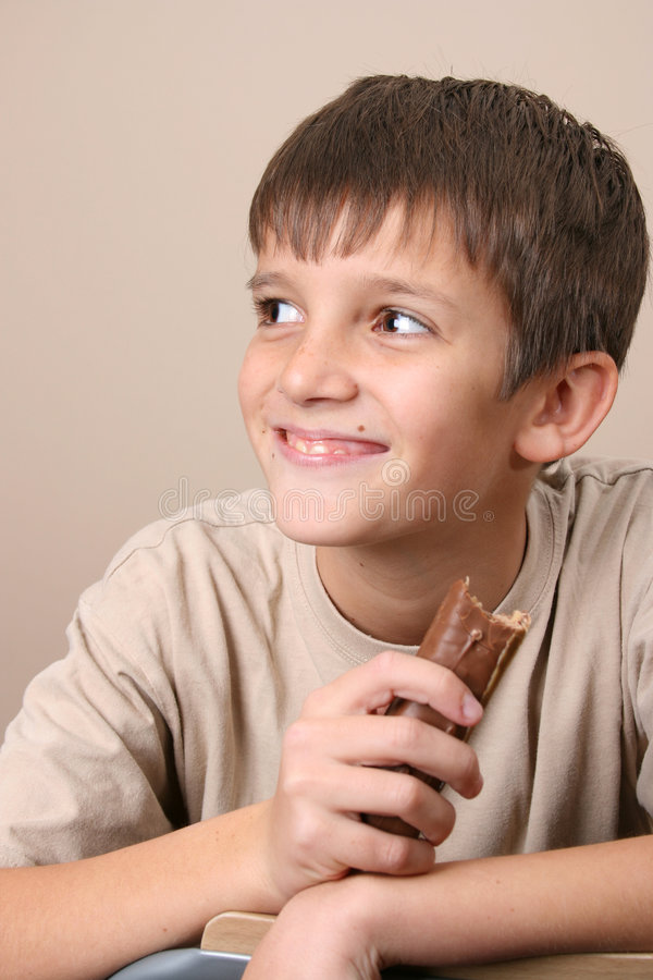 Schokoladen-Kinder stockbild