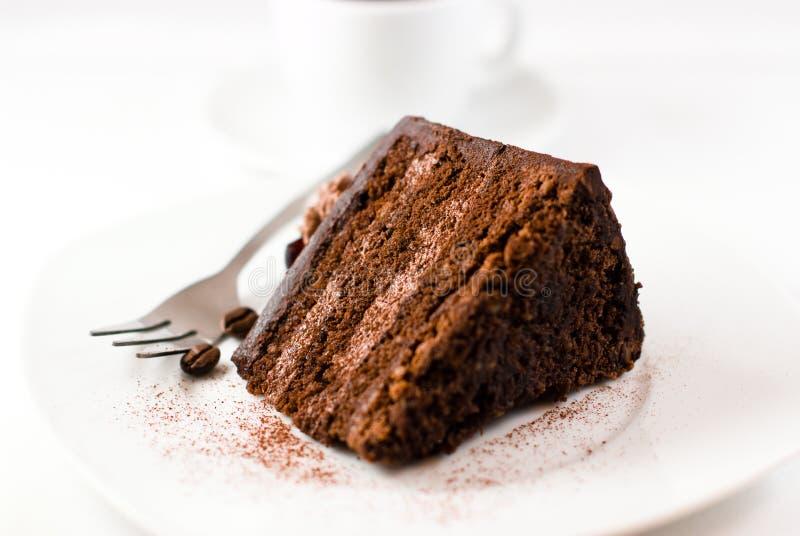Schokoladen-Kuchen lizenzfreies stockfoto