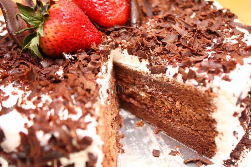Schokoladen-Kuchen stockfoto