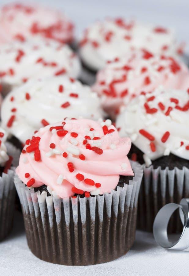 Schokoladen-Kuchen-rosa Bereifen stockfotos
