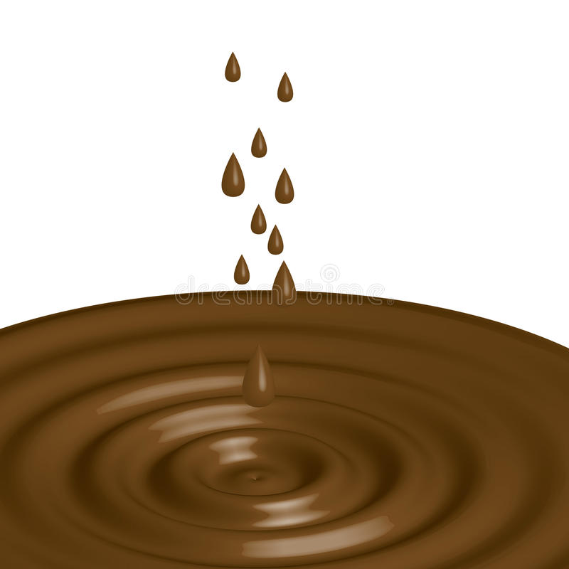 Schokoladen-Nieselregen stock abbildung