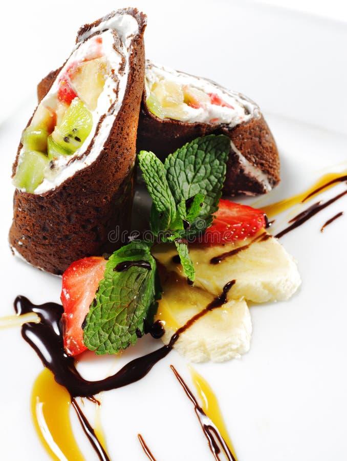 Schokoladen-Pfannkuchen lizenzfreies stockbild