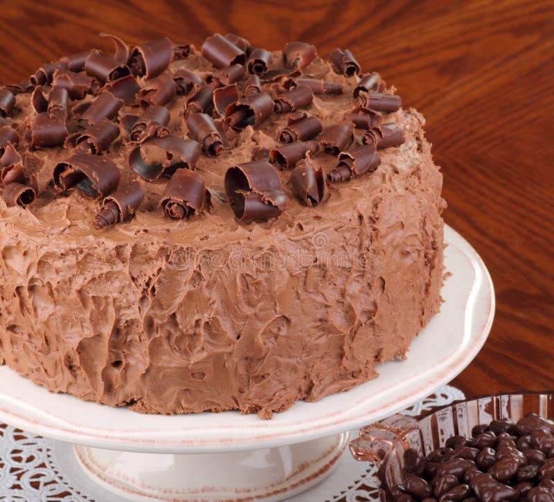 Schokoladen-Schicht-Kuchen stockfoto