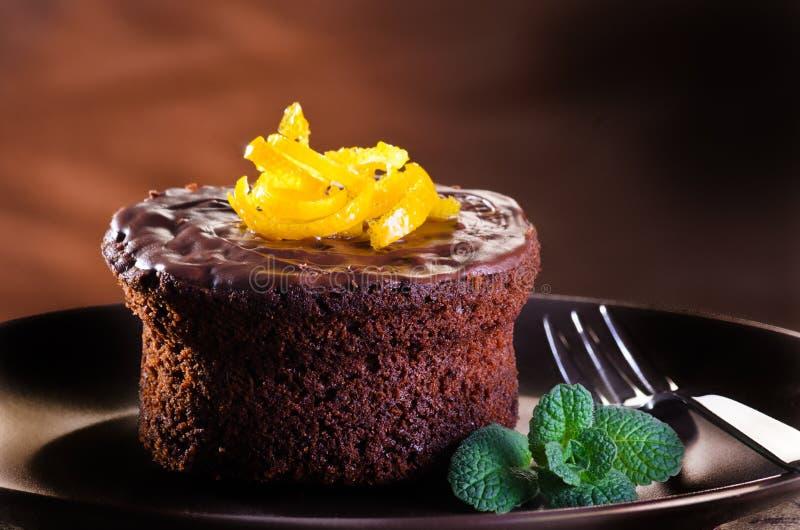 Schokoladen-Schokoladenkuchen stockfotos