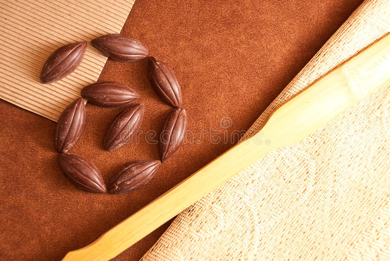 Schokoladen-Strudel stockfoto